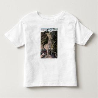 Große Neigungs-Eisenbahn-Ansicht Kleinkinder T-shirt