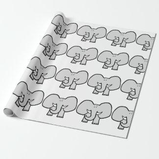 elefanten geschenkpapier. Black Bedroom Furniture Sets. Home Design Ideas