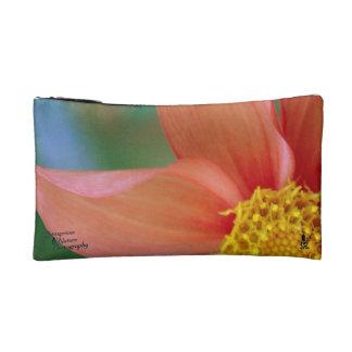 Große orange Blatt-u. Drehungs-Lilien-Inspektion. Kosmetiktasche