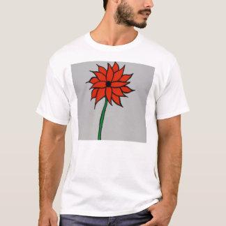Große orange Sonnenblume T-Shirt