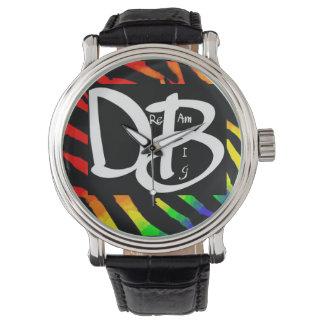 Große Regenbogenzebra-Druck-Traumuhr Uhr