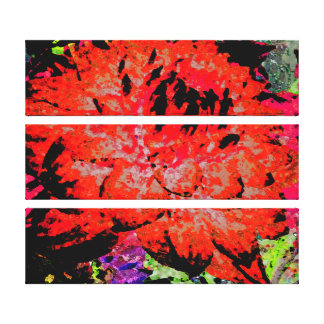 Große rote Dahlie Leinwanddrucke