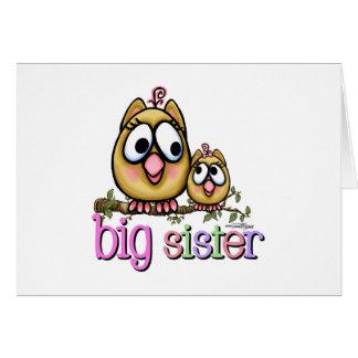 Große Schwester-kleine Schwester-Eulen Karte