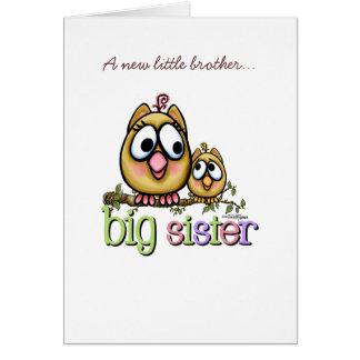 Große Schwester - kleiner Bruder Karte