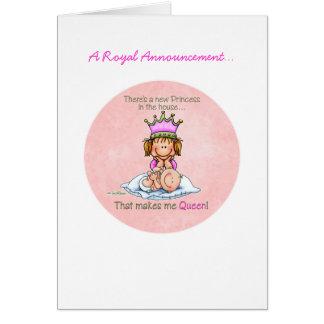 Große Schwester - Königin von Prinzessin Karte