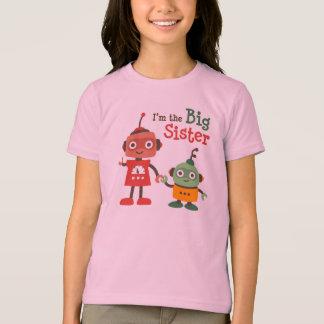 Große Schwester - Retro Roboterfamilien-T - Shirts