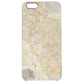 Große Skala-Landkreis-und Eisenbahn-Karte von Durchsichtige iPhone 6 Plus Hülle