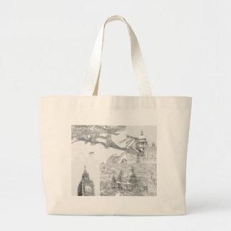 Große Taschen-Tasche - Ikonen von London Jumbo Stoffbeutel