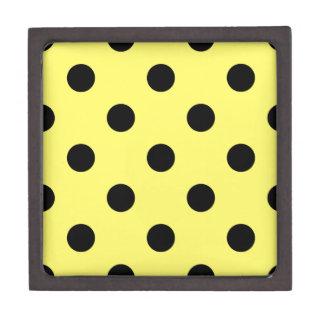Große Tupfen - Schwarzes auf Zitrone Kiste