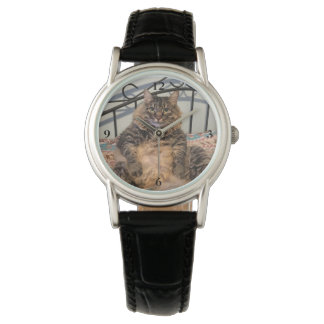 Große umarmbare Katzen-Uhr Armbanduhr