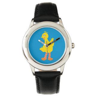 Große Vogel-Grafik Armbanduhr