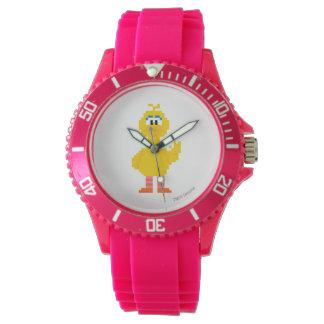 Große Vogel-Pixel-Kunst Armbanduhr