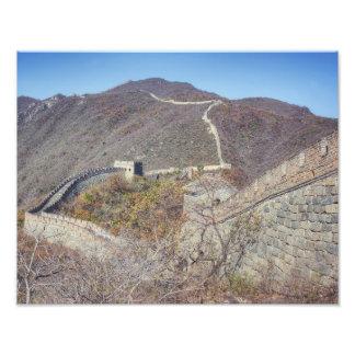 Große Wand der China Fotodruck