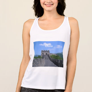 Große Wand in der China Tank Top