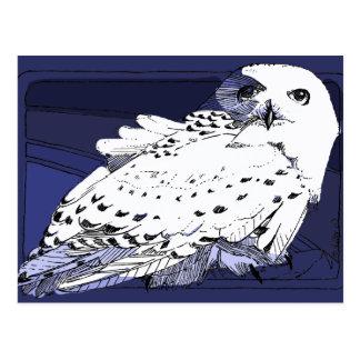 Große weiße Snowy-Eule Postkarte