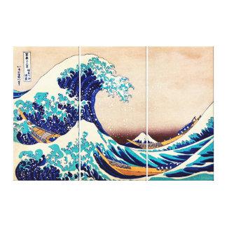 Große Welle weg von Vintagem japanischem Gespannte Galeriedrucke