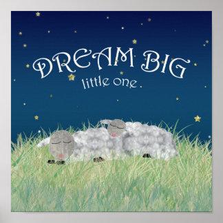 Große wenig niedliche Kinderzimmer-Traumkunst Poster