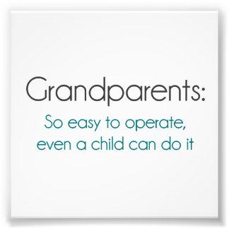 Großeltern so einfach zu benützen fotografische drucke