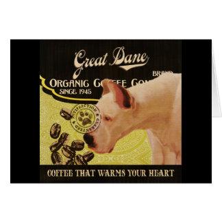 Großer Däne-Marke - Organic Coffee Company Karte