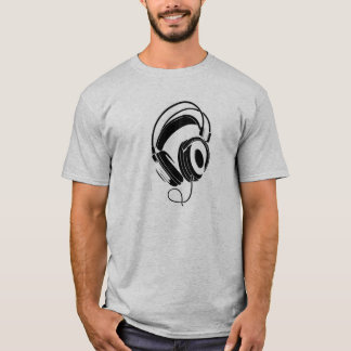 großer DJ-Kopfhörer-T - Shirt