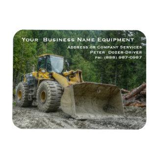 Großer gelber Planierraupen-Traktor-schwere Vinyl Magnet