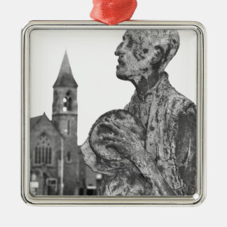 Großer Hunger von Irland-Statuen in Dublin Silbernes Ornament