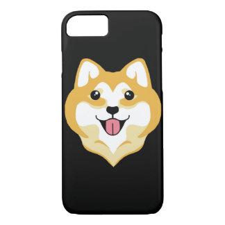 Großer Lächeln iPhone 7 Fall @ Kiki das Shiba iPhone 8/7 Hülle