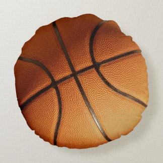 Großer Leuchtorange-Basketball, Rundes Kissen