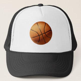 Großer Leuchtorange-Basketball, Truckerkappe