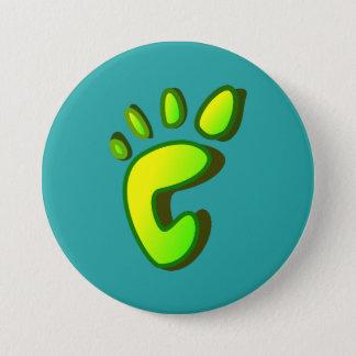 Großer Limoner grüner Abdruck Runder Button 7,6 Cm