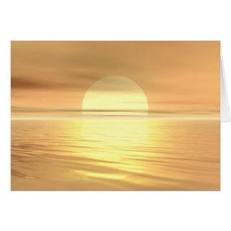 Großer Sonnenuntergang Karte