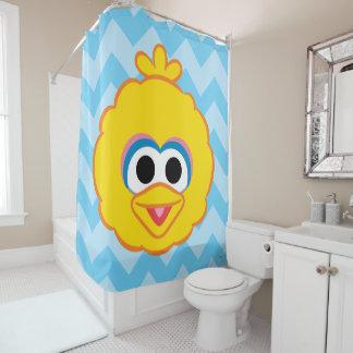 Großer Vogel-lächelndes Gesicht Duschvorhang