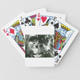 Großes Affe-Gesicht Bicycle Spielkarten