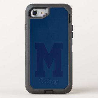 Großes blaues Uni-Monogramm OtterBox Defender iPhone 8/7 Hülle
