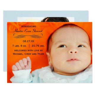 Großes Foto blühen - Geburts-Mitteilung 12,7 X 17,8 Cm Einladungskarte
