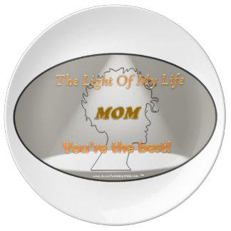 Großes Geschenk für MAMMA - dekorative Teller Aus Porzellan
