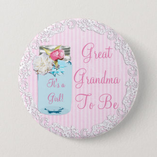 Großes Großmutter-Weckglas-rustikaler schäbiger Runder Button 7,6 Cm