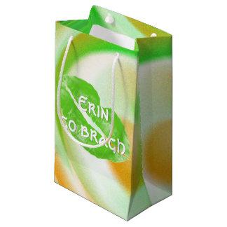 """Großes grünes irisches Lippen""""Erin gehen bragh"""" Kleine Geschenktüte"""