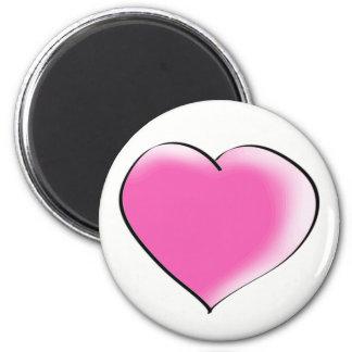 Großes Herz der Liebe Runder Magnet 5,1 Cm