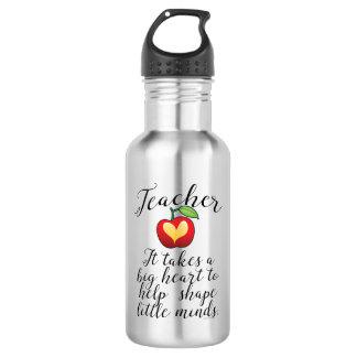 Großes Herz, zum des Form-Kleingeister-Lehrers zu Trinkflasche