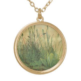 Großes Stück Rasen durch Albrecht Durer, Vintage Vergoldete Kette