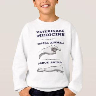 Großes und kleines tierisches tierärztliches sweatshirt
