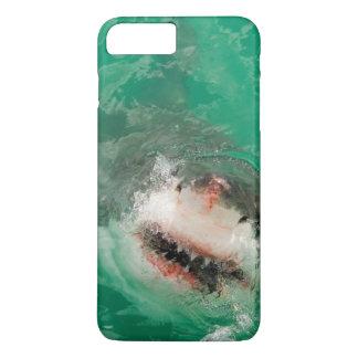 Großes Weiß Shark1 iPhone 8 Plus/7 Plus Hülle