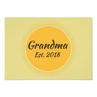 Großmutter Est. Mitteilungs-Karte 2018 Karte