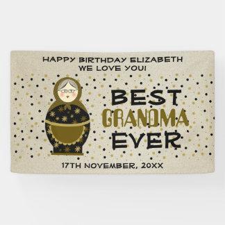 Großmutter-Geburtstags-goldene Punkt-beste Banner