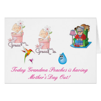 Großmutter-Pfirsiche hat Muttertag heraus Grußkarte