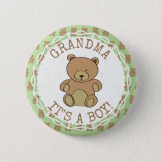 Großmutter sein Teddybär sein ein Jungen-Knopf Runder Button 5,1 Cm