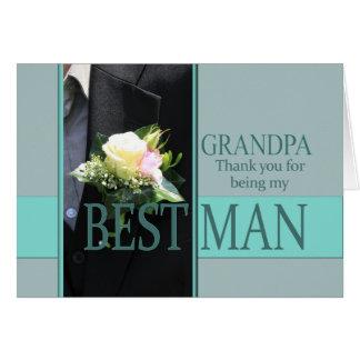 Großvater-Trauzeuge danken Ihnen Grußkarte