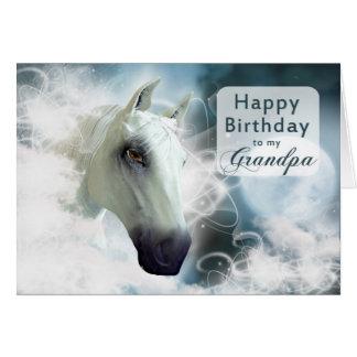 Großvatergeburtstag, arabisches Pferd Grußkarte