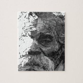 großväterlicher Bürstenentwurf des alten Mannes Puzzle